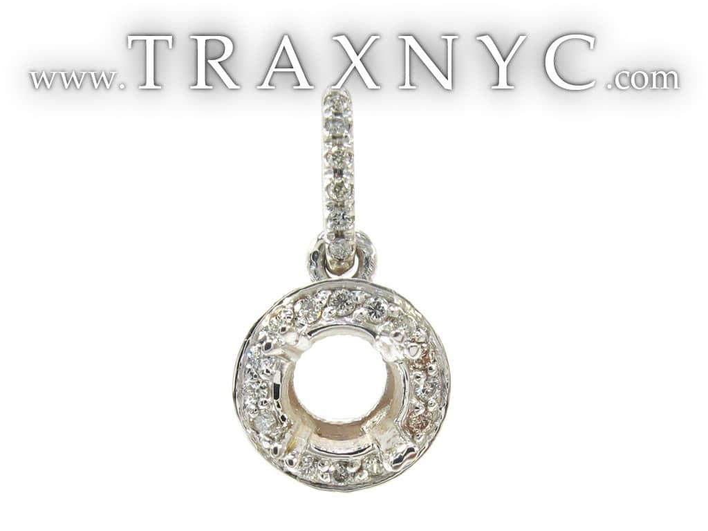 semi mount loop pendant featured pendant white gold 18k