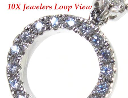 Loop Pendant 2 Stone