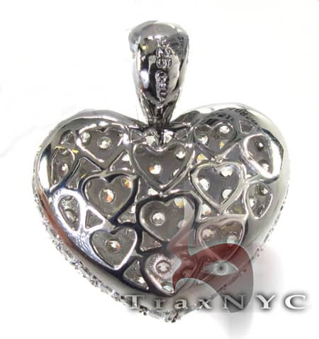 Iced Heart Pendant Stone