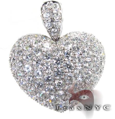 Iced Heart Pendant Stone
