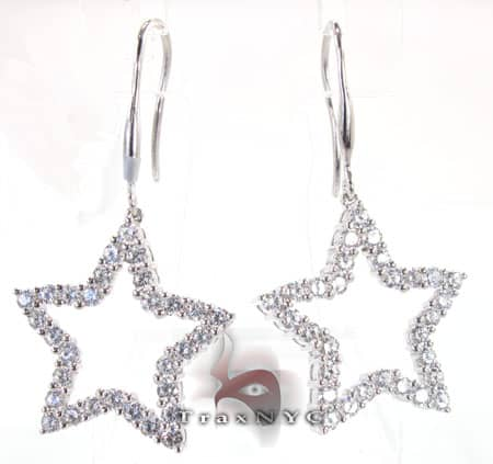 Star Earrings 5 Stone