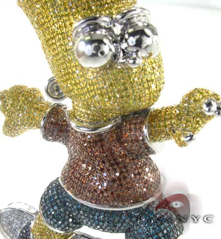 Custom Jewelry - Bart Simpson Pendant Metal