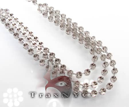 Tri Bezel Necklace Diamond
