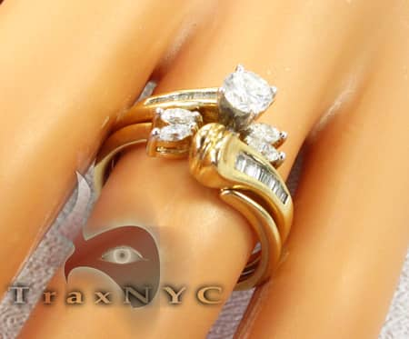 Yellow Gold Flower Swirl Ring Anniversary/Fashion