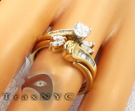 Yellow Gold Flower Swirl Ring Anniversary/Fashion