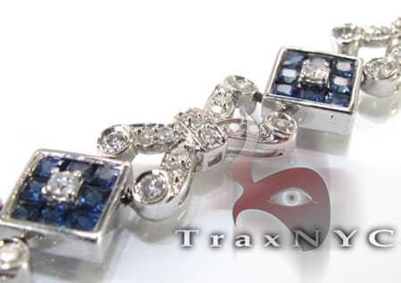 Blue Sapphire Tetra Bracelet Diamond
