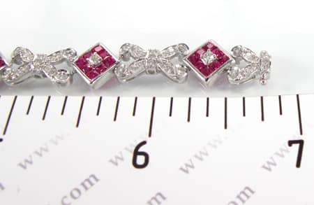 Ruby Tetra Bracelet Diamond