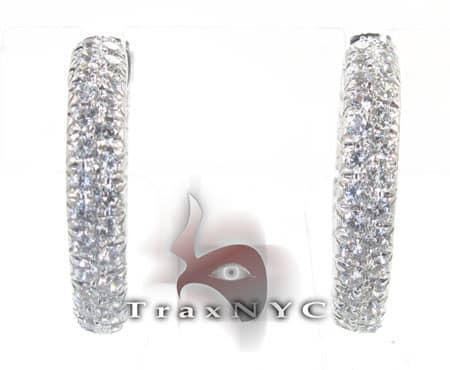 Ladies Loop-Around Earrings Stone
