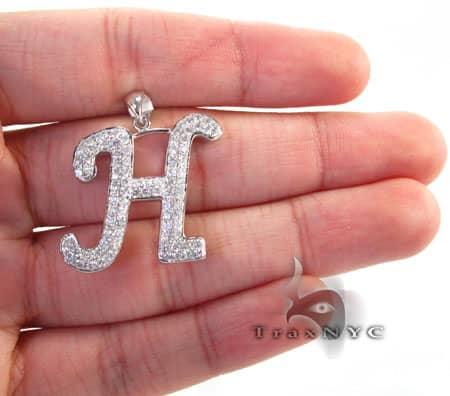 Frozen H Pendant Metal