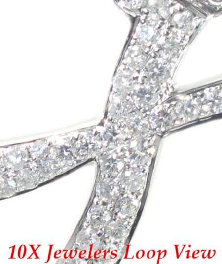 Frozen X Pendant Metal