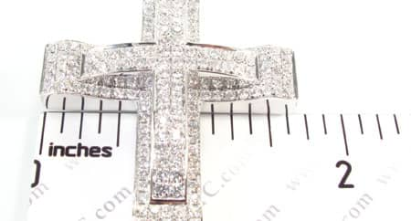 White Gold Dual Cross Diamond