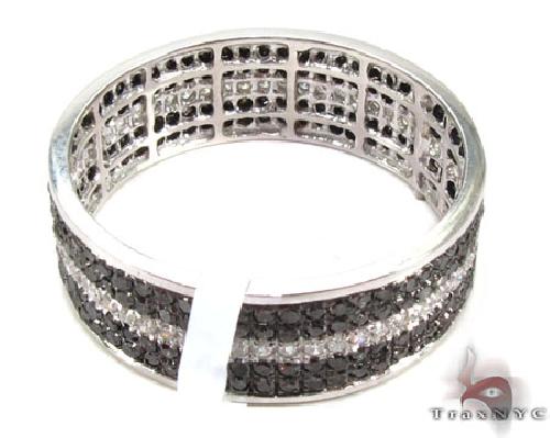 5 Row White Strip Diamond Ring 49199 Stone