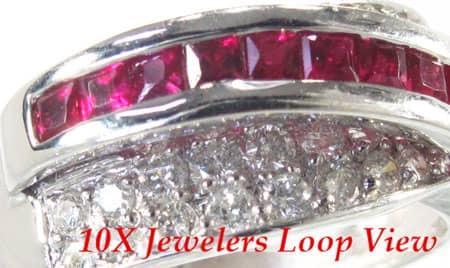 Ruby Swirl Ring Anniversary/Fashion