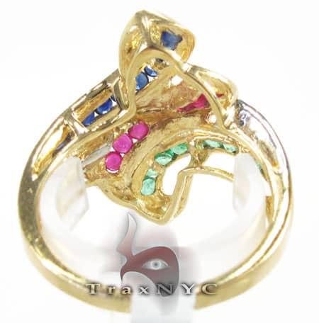 Tri Gemstones Ring Anniversary/Fashion