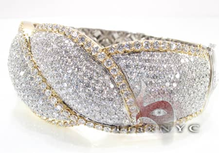 Fire and Ice Ribbon Bracelet Diamond