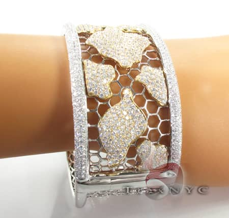 Fire and Ice Cage Bracelet Diamond