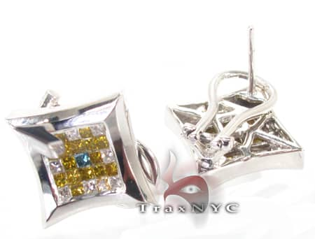 Ninja Star Earrings Stone