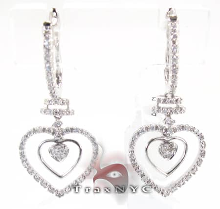 Tri Heart Earrings Stone