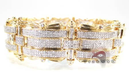 YG Rise & Fall Bracelet Diamond