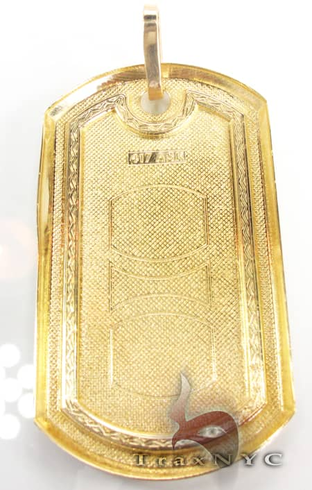 Gold Dog Tag Style
