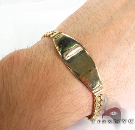 Yellow Gold Bracelet Plate 3 Gold