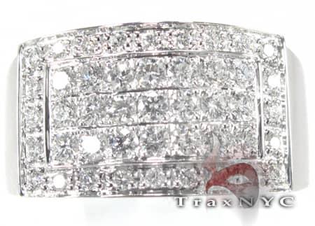 Mens Diamond Pinky Ring Stone