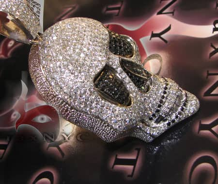 Iced Out Skull Head Pendant Style