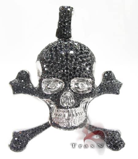 Black Skeletal Pendant ダイヤモンド スカルペンダント