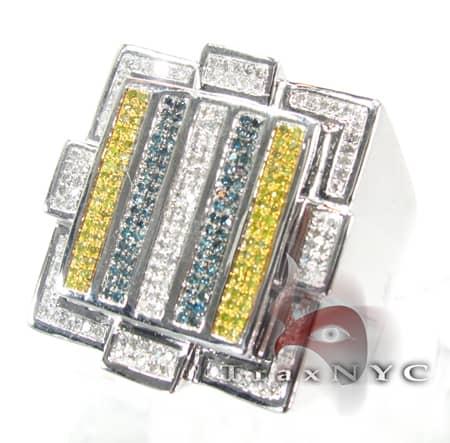 Multicolored Bar Ring Stone