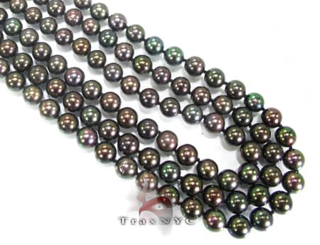 French Dyed Black Pearl Necklace Pearl