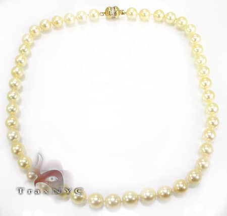 Yellow Pearl Necklace Pearl