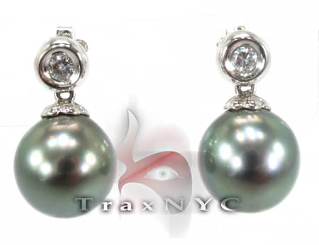 Tahitian Pearl Earrings 2 Stone
