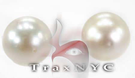 South Sea Pearl Earrings Stone