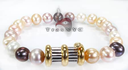 Multi Colored Pearl Bracelet Pearl Bracelets