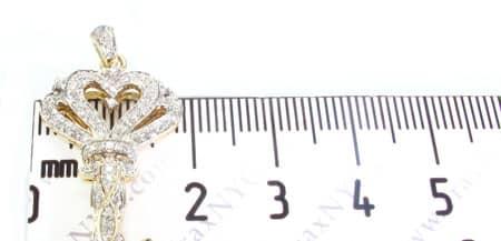 Golden Flower Key Pendant Stone