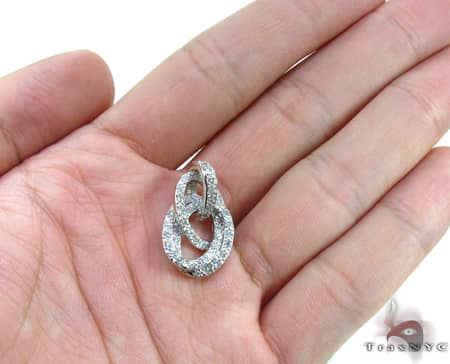 Clear Sterling Silver Pendant Metal