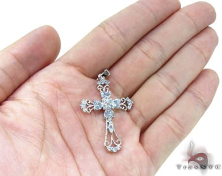 Clear Cross Sterling Silver Pendant Style