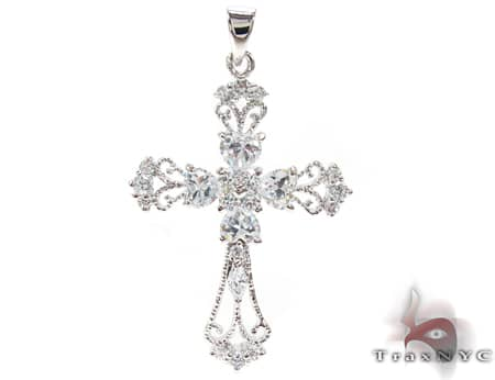 Clear Cross Sterling Silver Pendant シルバークロス