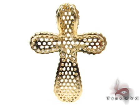 Yellow Cross Sterling Silver Pendant Style