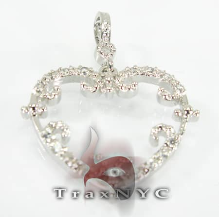 Mini Open Heart Sterling Silver Pendant Metal