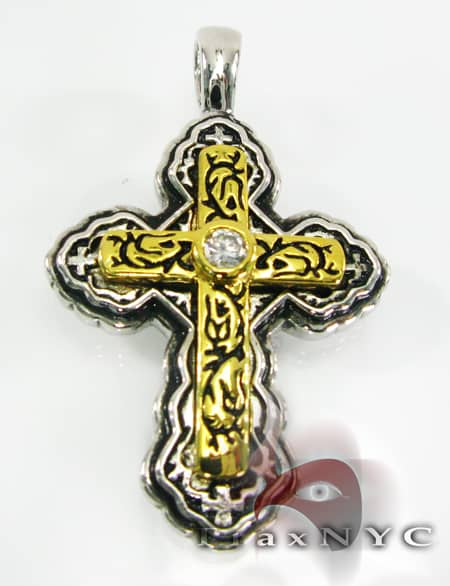 Sterling Silver Pendant Cross Metal
