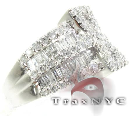 14K White Gold Diamond Prophecy Ring Anniversary/Fashion