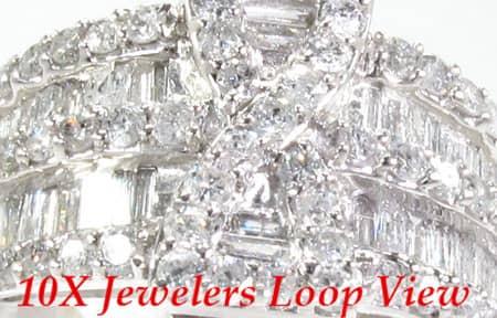 14K White Gold Diamond Prophecy Ring Anniversary/Fashion