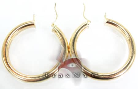 Golden Bangle Earrings Metal