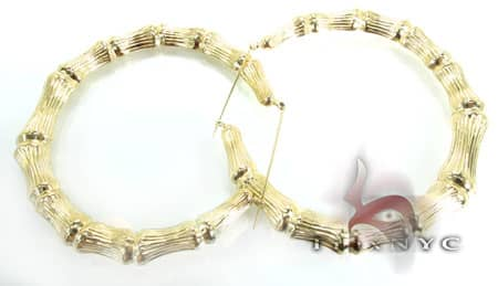 Golden Bangle Earrings 3 Metal