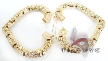 Golden Heart Earrings 2 Metal