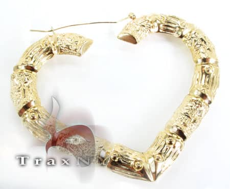 Golden Heart Earrings 2 Metal