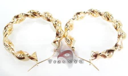 Golden Bangle Earrings 4 Metal