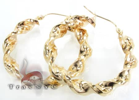 Golden Bangle Earrings 4 Metal