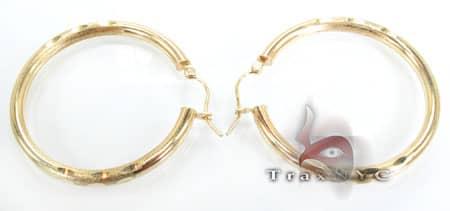 Golden Bangle Earrings 8 Metal